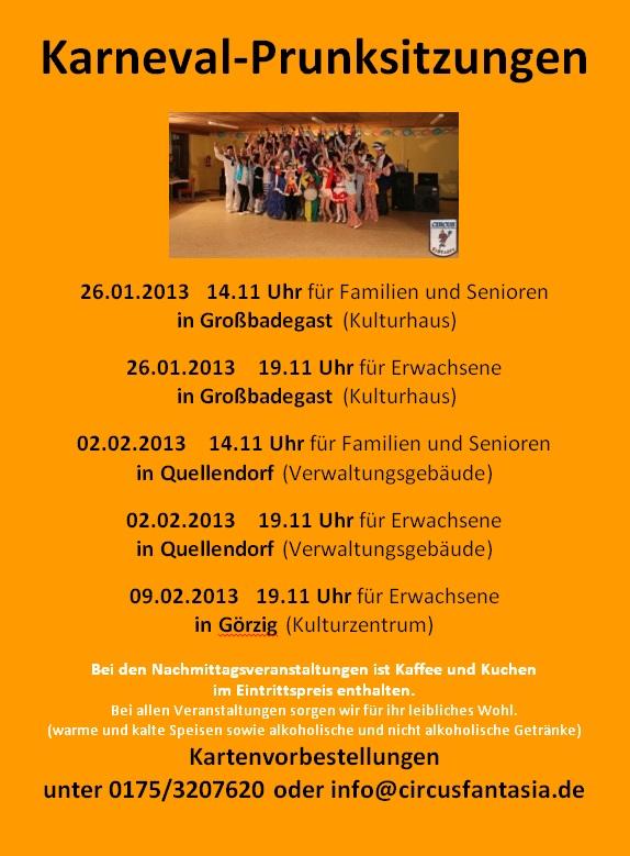 Flyer 2012/13 Karneval